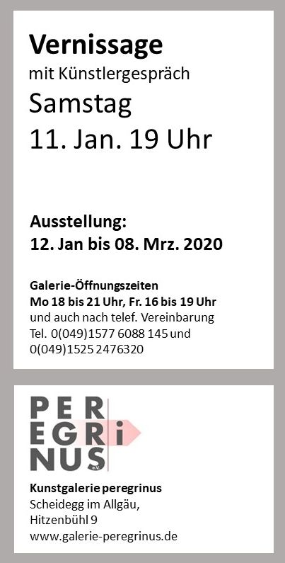Vernissage 11.1.2020 19 Uhr